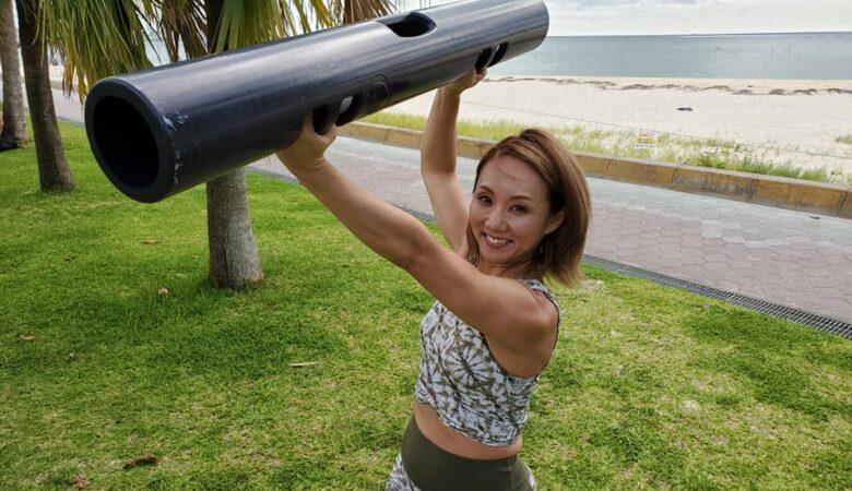 ビーチでパーソナルトレーニング!!01